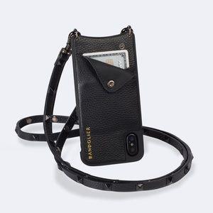 Sarah Stud Leather Bandolier Phone Case iPhone XS